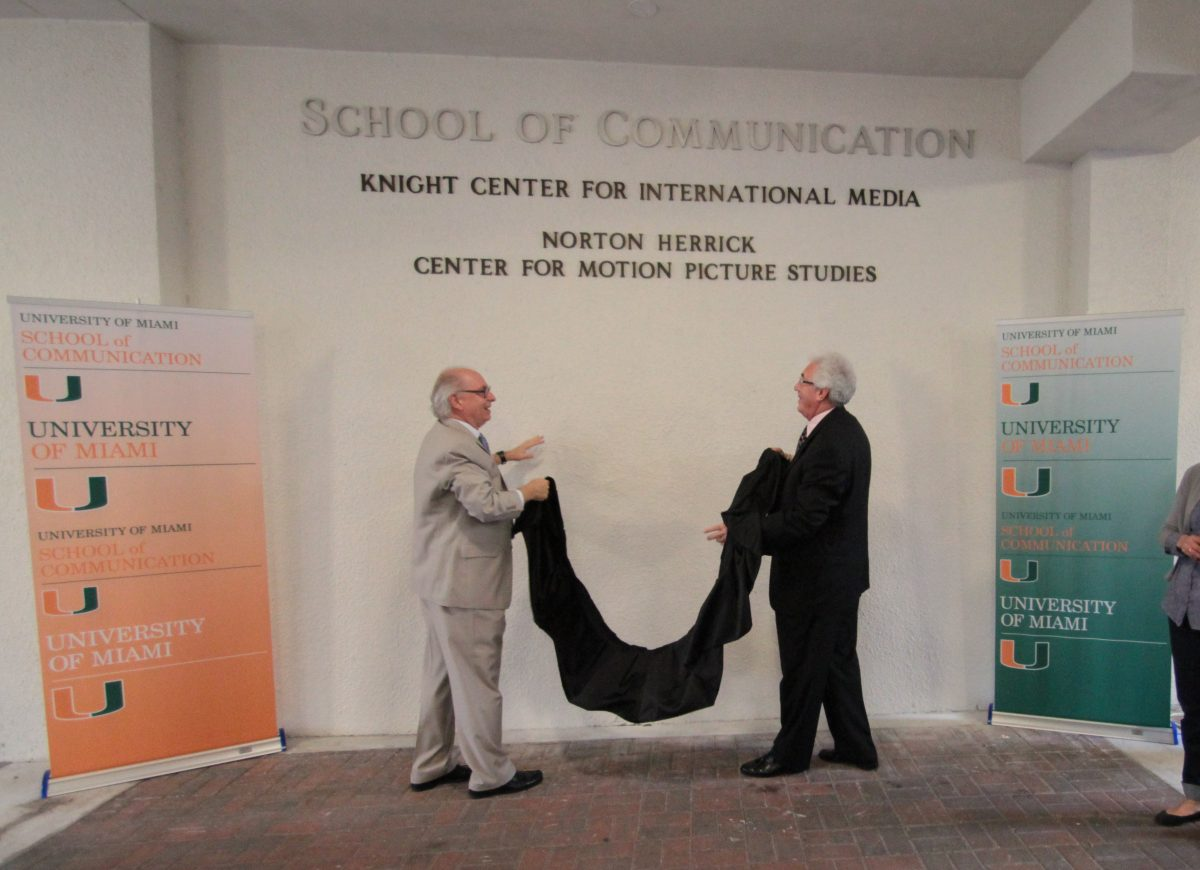 Sam L Grogg and Norton herrick at Norton Herrick Center for Motion Picture Studies