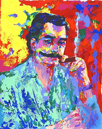 LeRoy Neiman self portrait